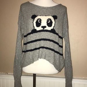 Hollister panda striped sweater